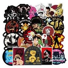 100pcs Pack Cartoons Anime ONE PIECE Stickers Waterproof Skateboard Suitcase Motorcycle Graffiti Luggage Guitar Sticker Kids