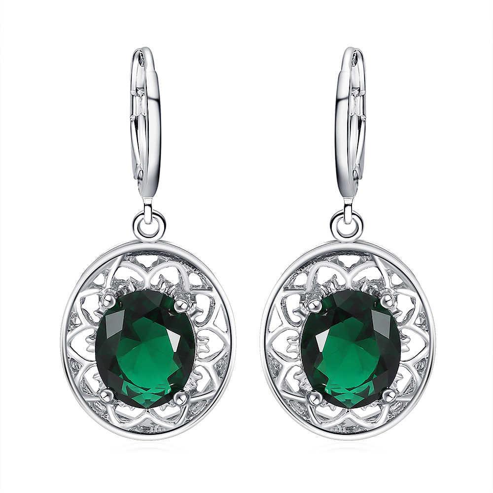 Vintage posrebrzany wytłaczany wzór zestawy kryształowej biżuterii dla kobiet klasyczny wisiorek naszyjnik spadek kolczyk kryształowy pierścień 3 sztuk/zestawów