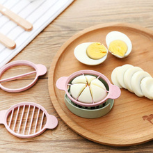 Household Kitchen Egg Slicer Multifunction Plastic Eco-Friendly Egg Cutter Device Food Processors Convenience Kitchen Gadgets eco friendly plastic garlic cutter presser