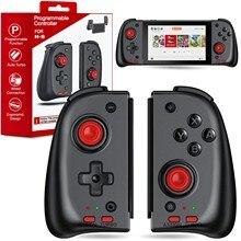 Gamepads para nintendo switch jogo joystick esquerda e direita controladores para interruptor joy game pad punho com turbo para n-switch jogos