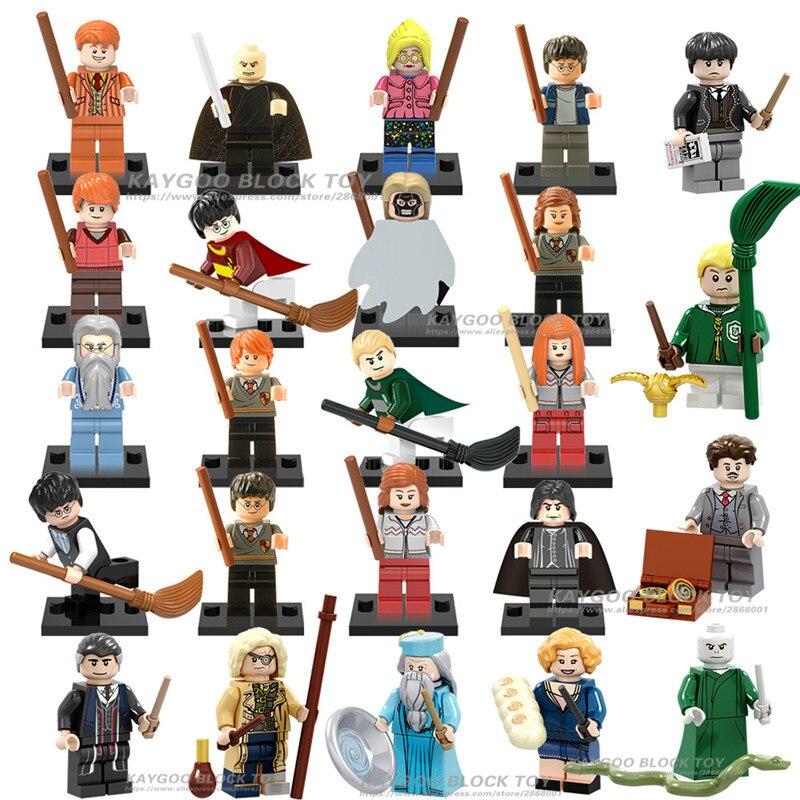 Single Hogwarts School Hermione Legoings Ron Weasley Dumbledore Professor Snape Draco Malfoy Figures Building Blocks Kids Toys