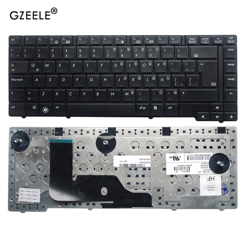 GZEELE New Keyboard For HP EliteBook 8440P 8440W Laptop BLACK LA Laptop / Notebook QWERTY