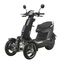 EEC Approved Street Legal 3 Wheels Front 2 Wheels Type Electric Motorcycle 3000W 72V40AH Electric Mobility Scooter Off Road 2