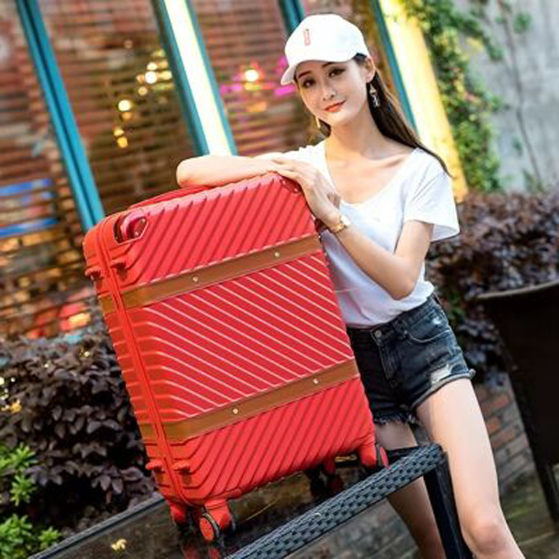 Business Travel Trolley Customizable Large Size Luggage Women's Universal Wheel Retro Password Travel Lugguge Boarding Bag a Gen