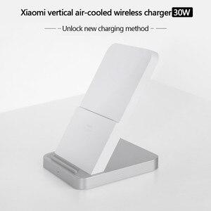 Image 2 - 원래 xiao mi 수직 공냉식 무선 충전기 30 w 최대 플래시 충전 xiao mi mi 9 pro 5g mi mi x 3 for iphone 11
