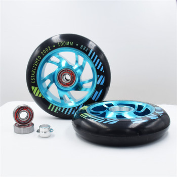2 pieces Scooter Wheel Aluminium Alloy 88A 110mm 100mm MGP Scooter tyre rodas Aggressive iron skating wheel 100 110 skate roller