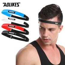 AOLIKES силиконовая лента для головы пота эластичная повязка на голову для спорта на открытом воздухе Налобная повязка на голову силиконовый р...