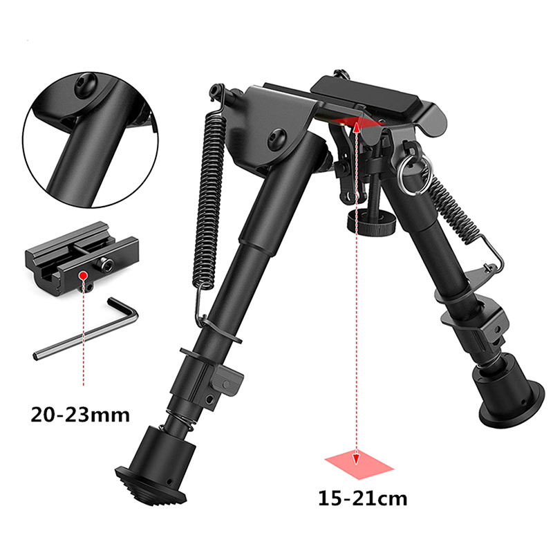 Connector Bipod-Mount Tri-Rail Warrior Airsoft Rifle Sniper Hunting Tactical Adaptor