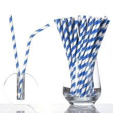 25pcs Gold Black Bendable Eco-friendly Paper Straw Birthday Party Decorations Supplies Wedding Decor Disposable