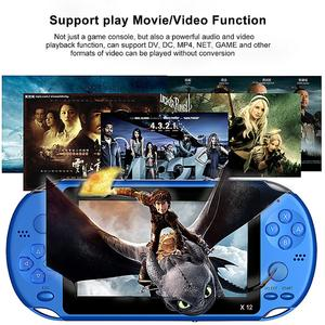 Image 3 - X12 משחק וידאו משחקי כף יד משחק קונסולת עבור PSP רטרו כפולה נדנדה ג ויסטיק 5.1 אינץ מסך טלוויזיה משחק נגן עבור SFC/GBA/NES/Bin
