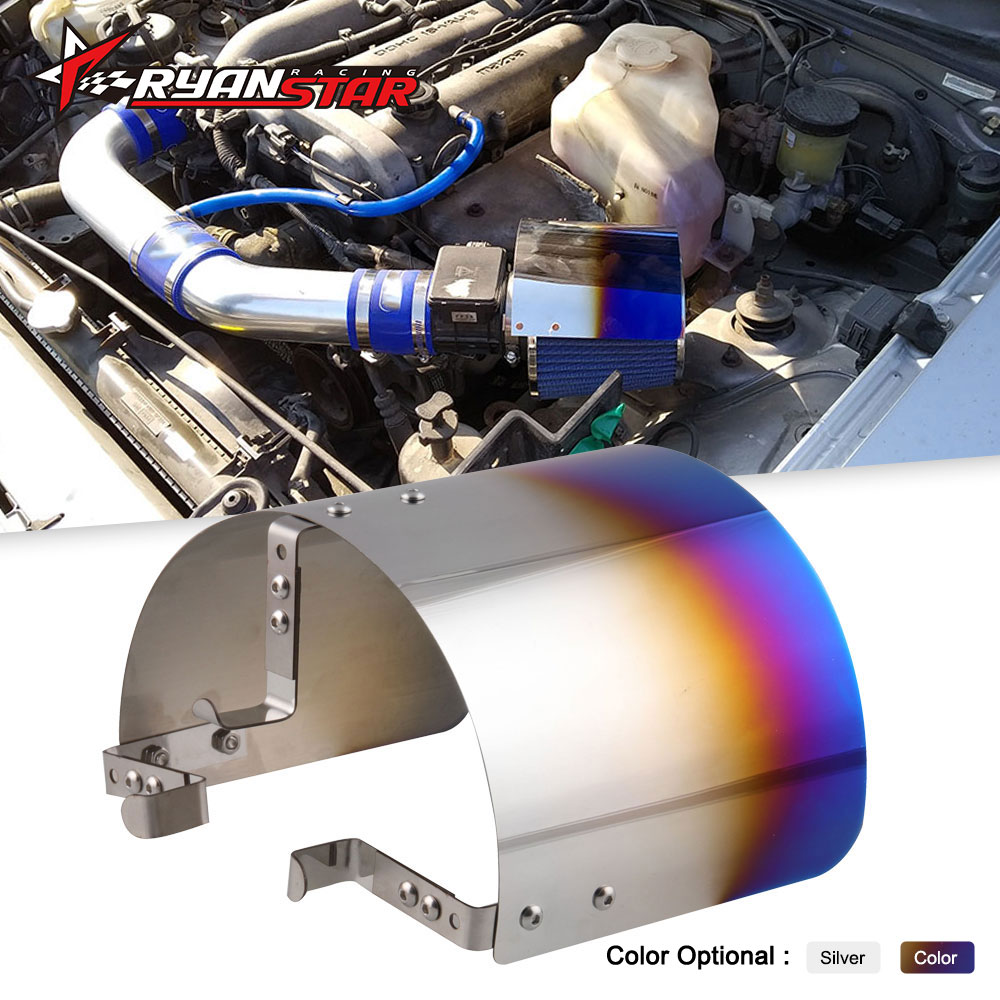 Air Intake Filter Cover Heat Shield For Racing Car 2.25
