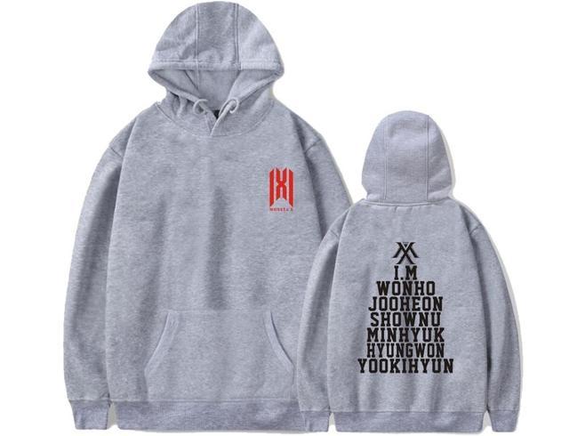 KPOP Monsta X WE ARE HERE World Tour Sweater Unisex Shownu Wonho Minhyuk Hoodie