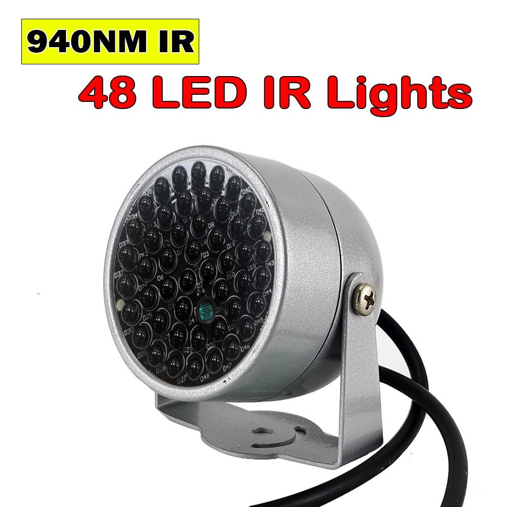 Новый невидимый инфракрасный осветитель 940NM 60 градусов 48 светодиодный ИК-светильник s для ночного видения CCTV безопасности 940nm ИК-камера запо...