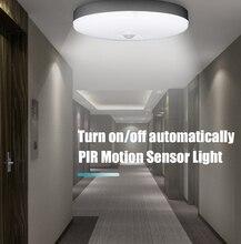 الذكية LED محس حركة ليلة ضوء 5w 7W 9W 12W 18W 220V البير الاستشعار لمبات مصباح السقف أضواء للمنزل درج الممر الأبيض