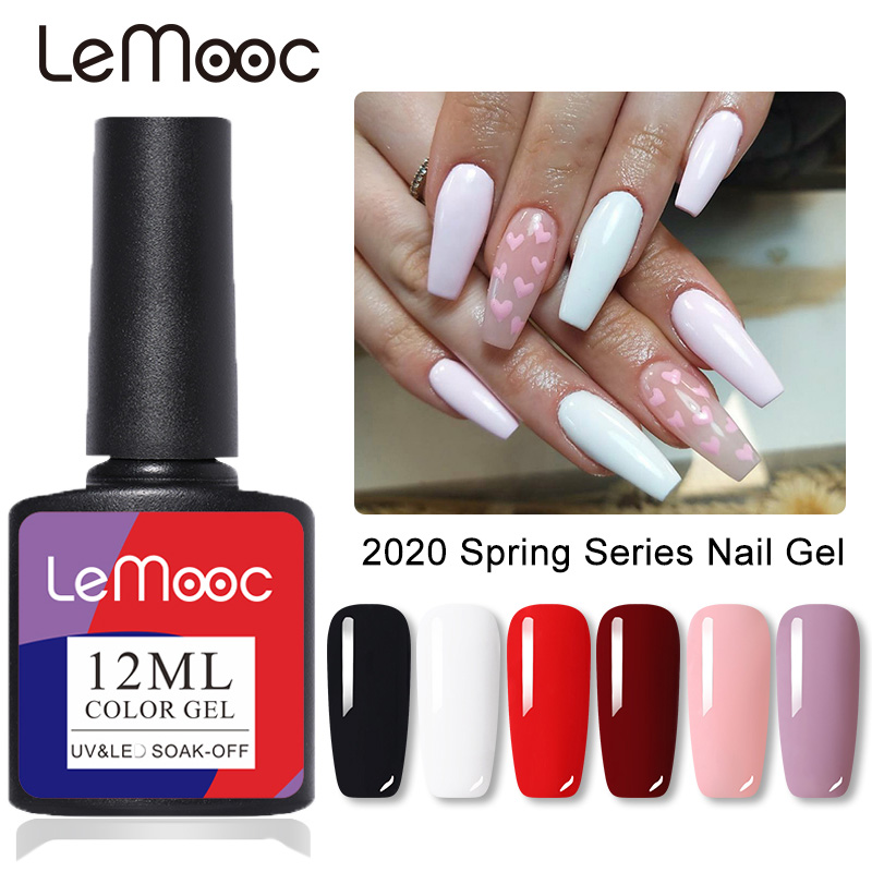 LEMOOC 12ml Glitter Sequins Gel Nail Polish Shiny Purple Red Silver Colorful Long Lasting Soak Off UV Gel Nail Art Gel Varnish Nail Gel    - AliExpress