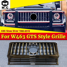 For MercedesMB G Class W463 Grille GT R Style Grill 1:1 Replacement Sport ABS Silver without Sign G500 G550 look grills 1990-18