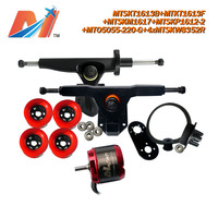 Maytech (9 pcs) 5055 buitenboordmotor rc sensorloze motor vierwiel elektrische skateboard combo