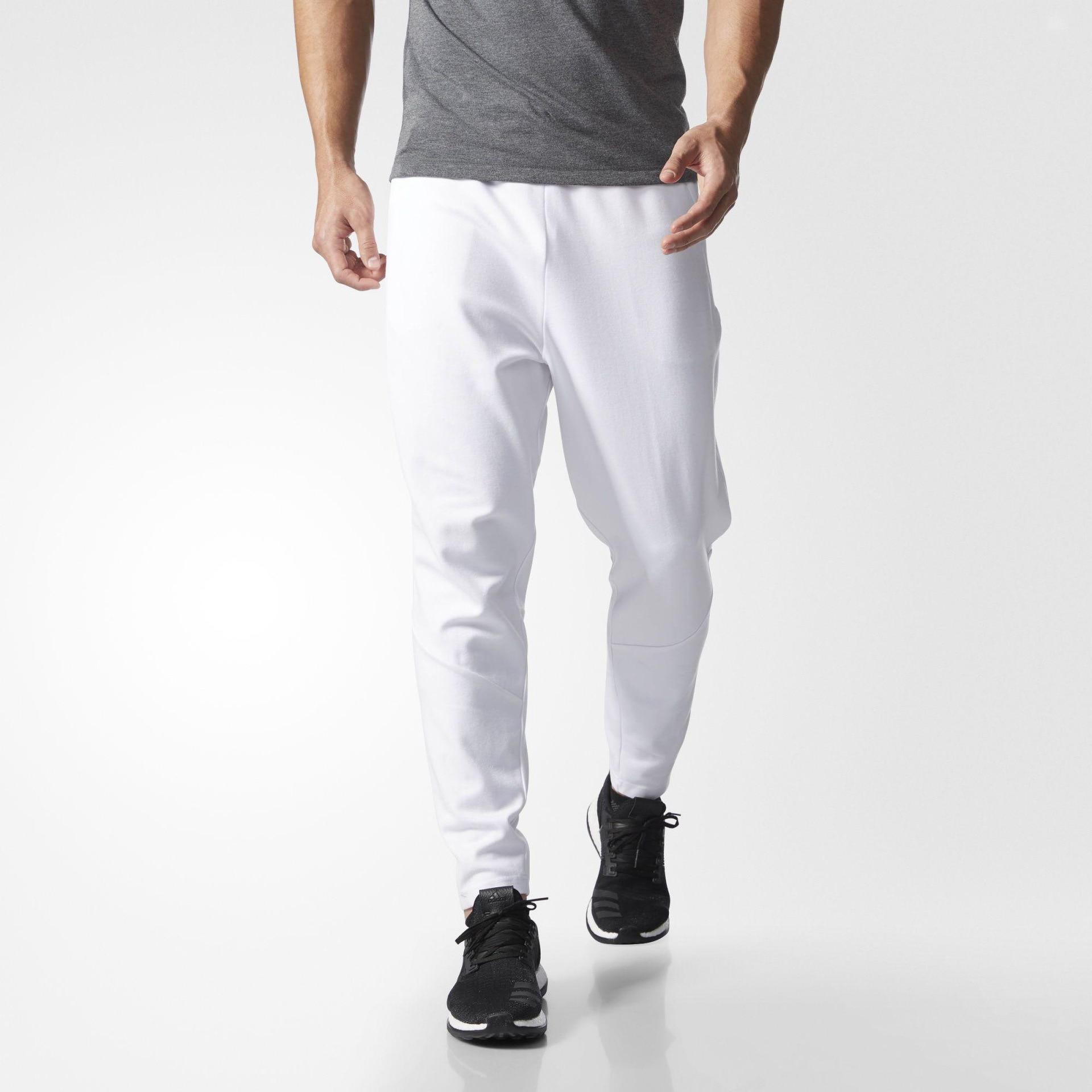 White Pants Men Streetwear Sweatpants Fashion Fitness Trousers Regular Spring Autumn Sport Training Pants Casual Straight Pants