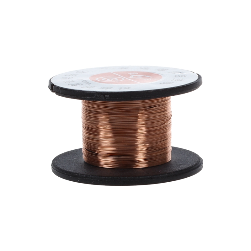 New 1Pcs 15m 0.1MM Copper Soldering Solder Enamelled Reel Wire Roll Connecting