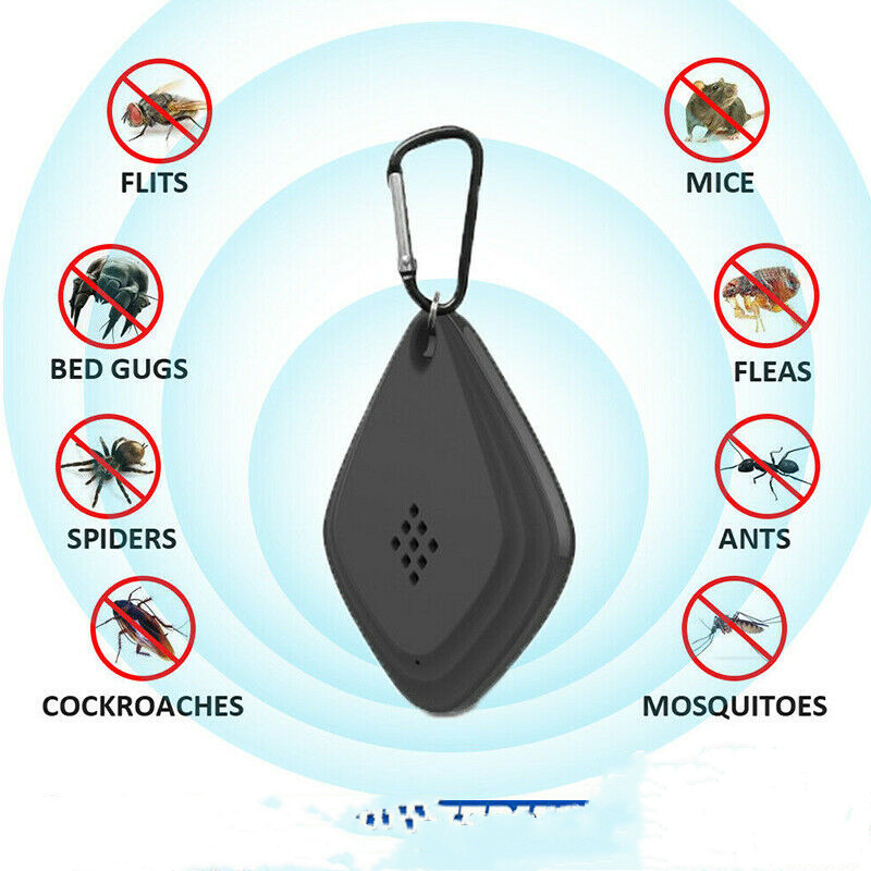 Portable Lightweight Flealess Ultrasonic Flea Tick Repeller Pest Animal Repeller