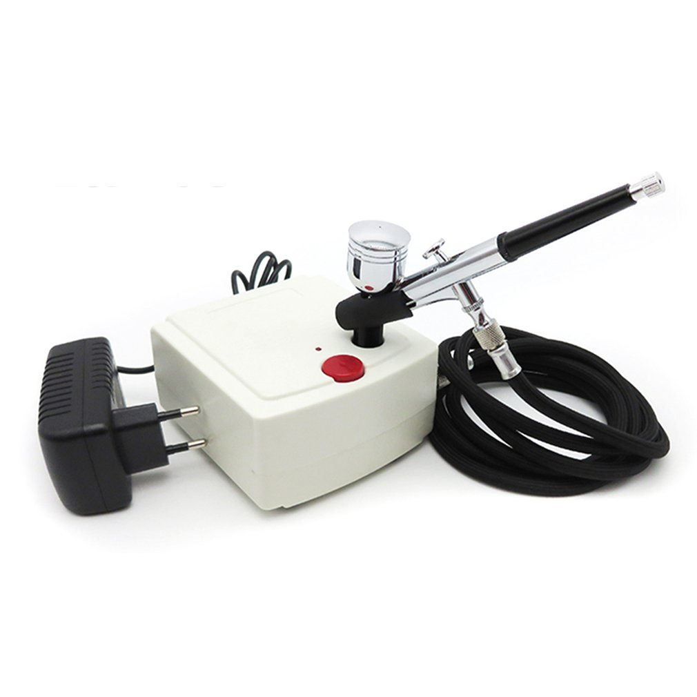 Hot Sale Mini Dual Action Spray Gun Airbrush Air Compressor Set Gravity Feed Air Brush Kit for Tattoo Manicure Craft Cake