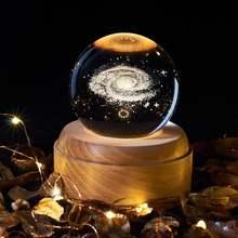 Музыкальная шкатулка хрустальный шар снежный стеклянные огни