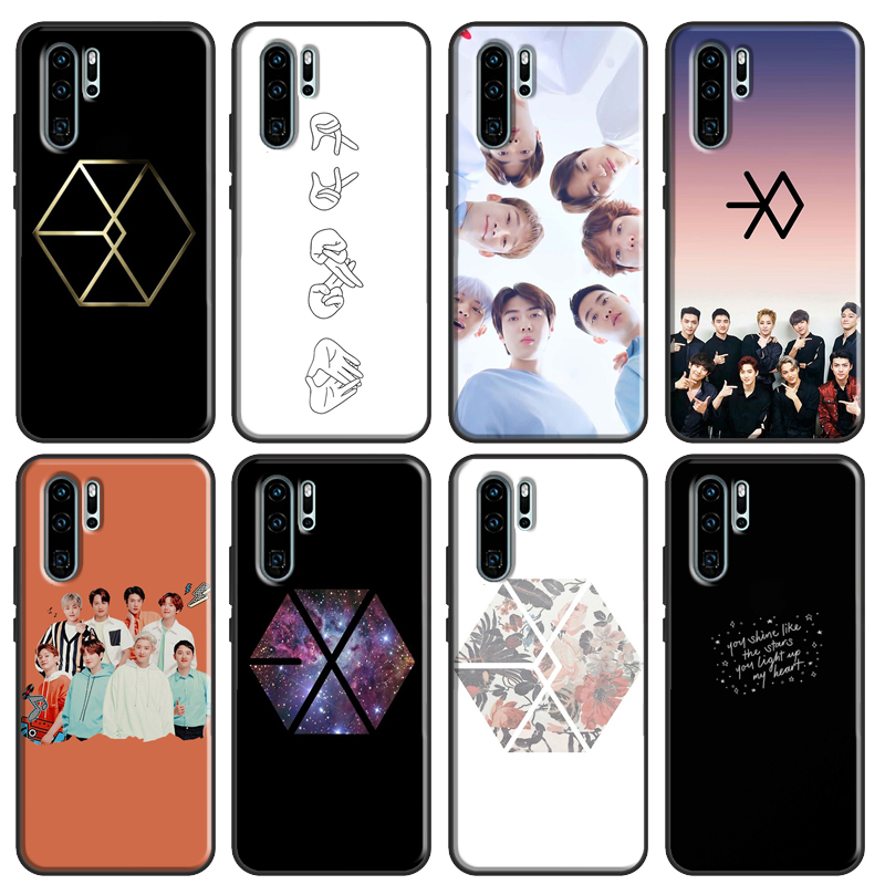 Чехол EXO band k-pop kpop для Huawei P Smart 2019 Nova 5T P20 P30 P40 Lite Mate 20 для Honor 9X 8X 8A 10i