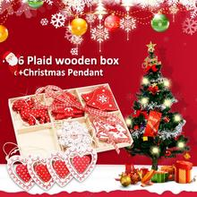 Wooden Color Box Creative 6 Plaid Home Decoration Crafts DIY Small Gift