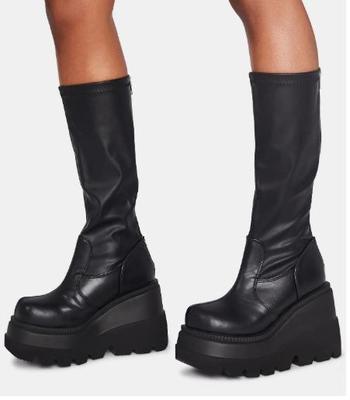meados de bezerro botas femininas casual marca