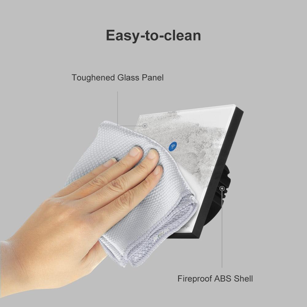 Sonoff T4EU1C Wifi Muur Touch Switch 1 Gang Eu Geen Neutrale Draad Nodig Schakelt Smart Enkele Draad Muur Switch Werkt met Alexa 6