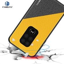 PINWUYO Case For Motorola Moto One Zoom Leather Phone Case For Motorola Moto P50 Note Soft Edge PC Hard Protective Cover Case