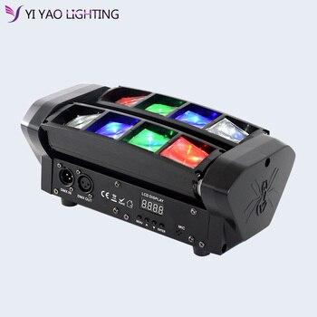Moving Head Light Mini Led Spider 8x6W RGBW Beam lights for party satge nightclub lighting