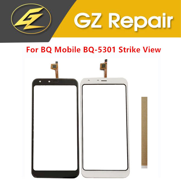 5.34 Inch For BQ Mobile BQ-5301 Strike View BQ530 Touch Screen Digitizer Glass Sensor Panel Black White Color With Tape