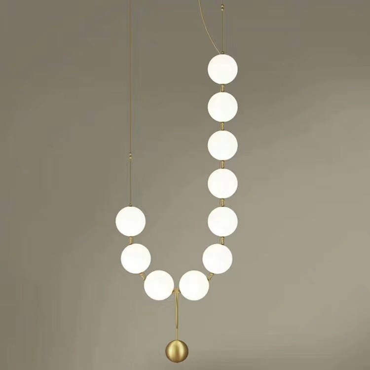 Postmodern Luxury Living Room Pendant Lamp Designer Nut Creative Personality Villa Restaurant Glass Ball Pendant Lights