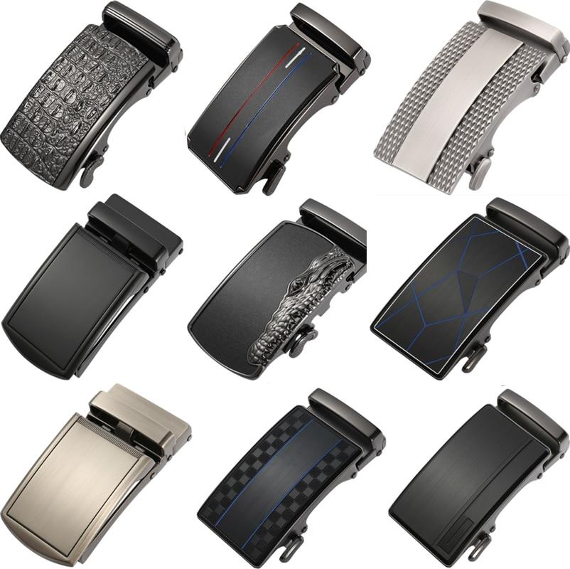 New Genuine Men's Belt Head, Belt Buckle,Leisure Belt Head Business Accessories Automatic Buckle  3.5CM Men Luxury Fashion Belts