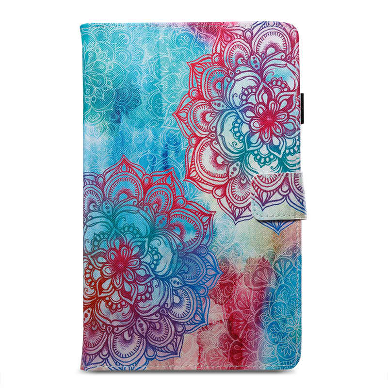 3D Fashion Flower Printing PU Leather Case For Samsung Galaxy Tab A 9.7 T550 T555 SM-T555 Smart Painted Tablet Case+Gift
