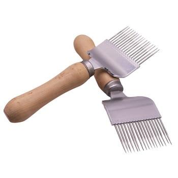 10 pcs Durable Wooden Handle Comb Honey Pin Needle Honey Knife Cut Honey Knife Beekeeper Uncapping Forks 17 Root Honey Fork фото