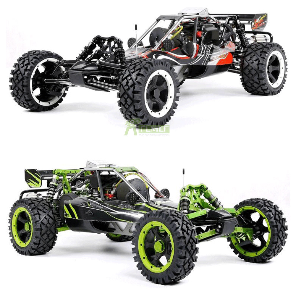 450 45CC Gasoline Engine Alloy Front Rear Arm With LED Light Symmetrical Steering RC 2WD Truck For 1/5 Scale ROFUN ROVAN Baja 5B