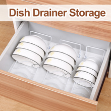 Kitchen Organizer Stainless Steel Dish Bowl Rack Drainboard Drying Drainer Storage Rack Stand