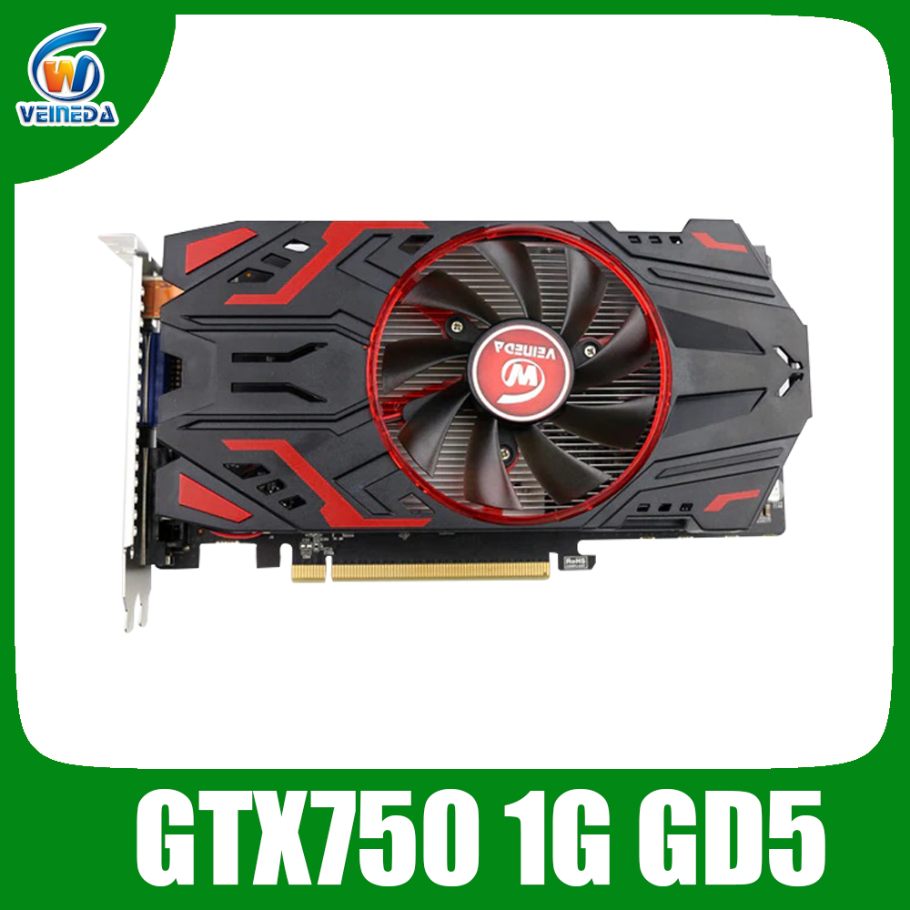 Video Card Original GPU GTX750 1GB GDDR5 Graphic Card Instantkill GTX650Ti ,HD6850 ,R7 350 For NVIDIA Geforce Games