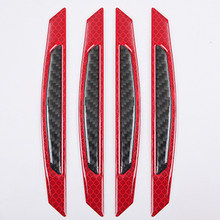 Red Bumper Reflective Sticker Set 4pcs Set Strip Reflector Decal PC Plastic Kit Parts Frames(China)