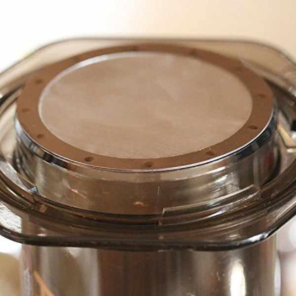 8 peças de aço inoxidável disco metal ultra fino filtro para aeropress cafeteira cozinha acessórios café