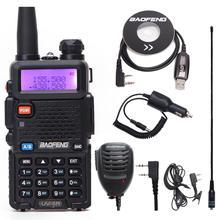 Estação de Rádio Walkie Talkie Baofeng UV 5R 128CH VHF UHF Two way Radio baofeng uv 5r Rádio cb Portátil Para caça uv5r Presunto