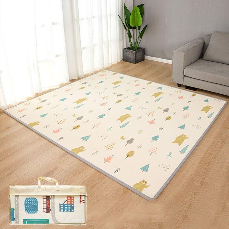200 см * 180 см детский коврик XPE детский игровой коврик для детей мягкий напольный Детский ковер для гостиной развивающий коврик-пазл для полза...