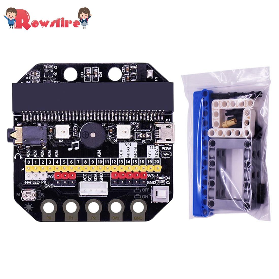 Basic:Bit IO Expansion Board Horizontal Type Pinboard Microbit Python Development Board