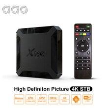 AAO X96Q dekoder Android 10.0 TV, pudełko 2G 16G inteligentny TVBOX Allwinner H313 czterordzeniowy 2.4G 2K 4K WiFi Netflix odtwarzacz multimedialny PK X96
