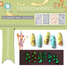 Get more info on the 1pcsLatest Halloween Safety Luminous Manicure Decals Nail Art Stickers Halloween Cat Design Nail Self-adhesive DIY Tips Stickers