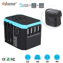 5USB reise adapter Universal Power Adapter Ladegerät weltweit adapter wand Elektrische Stecker Steckdosen Konverter für handys
