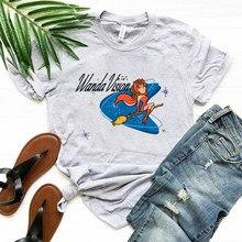 WandaVision Retro T-Shirt Funny Scarlet Witch Graphic Tee Wanda & Vision Retro 50s Shirt Hipster Tops