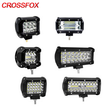 CROSSFOX Arbeitsscheinwerfer LED 120W 300W Flood Spot Combo Strahl 36W 60W 72W LED Arbeit Licht lampe Bar Für Offroad 4x4 ebenen Traktor SUV